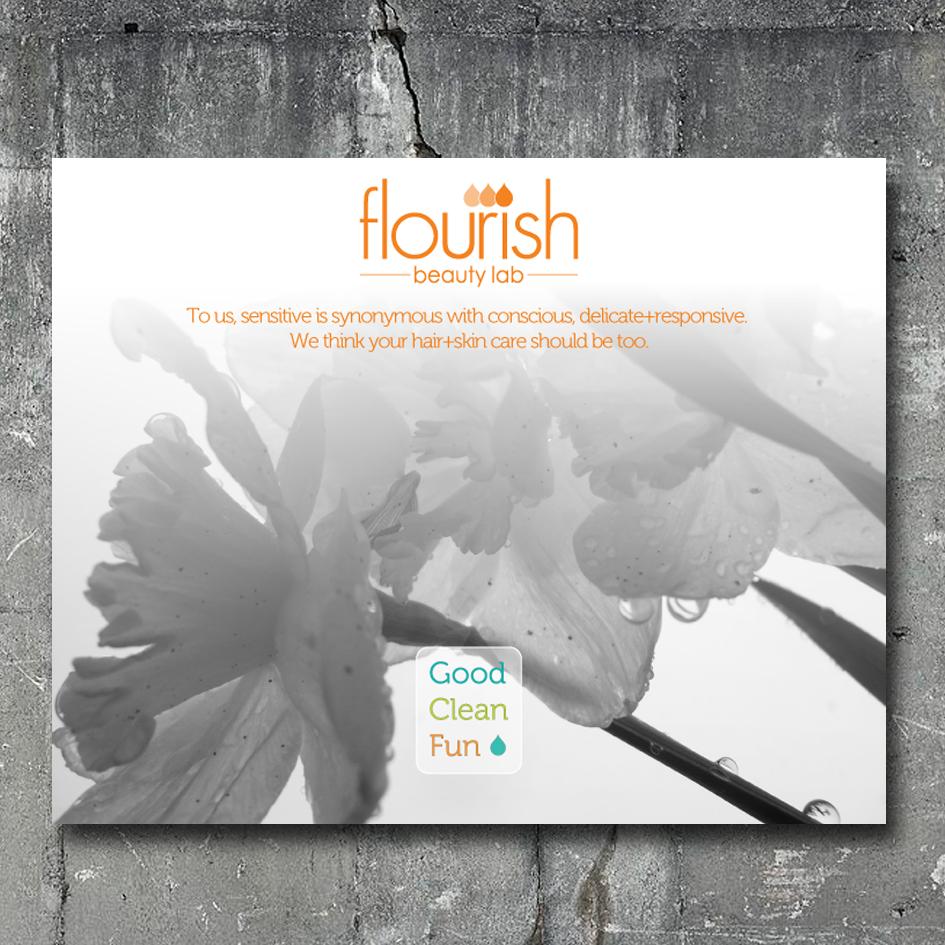 Flourish Shelf Talker
